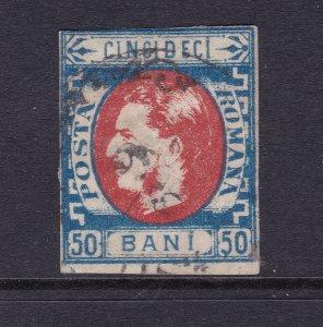 Romania a used 50b no beard from 1869