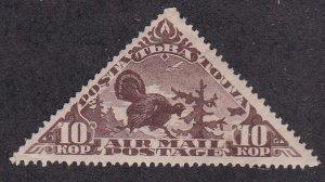 Tannu Tuva # C3, Capercaillie (Turkey) No Gum, 1/3 Cat., Triangle Shaped Stamp