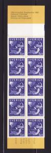 Sweden 1376a Complete Booklet Set MNH Day and Night