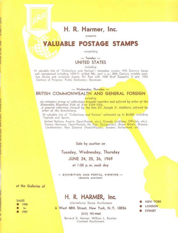 HR Harmer: Sale # 1905-1907  -  Valuable Postage Stamps: ...