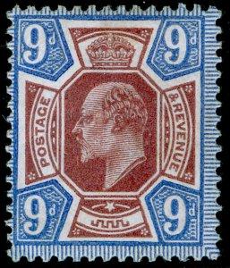 SG306 SPEC M41(1), 9d reddish purple & light blue, M MINT. Cat £80.