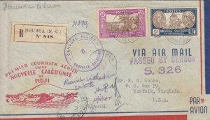 1942, 1st Flt., Nomea, New Caledonia to Suva, Fiji, See Remark (36056)