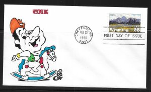 United States 2444 Wyoming Statehood Ellis First Day Cover FDC (z12)