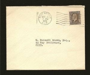 Canada 196 King George V on Postmarked Port Arthur Ont 1935 Cover Used