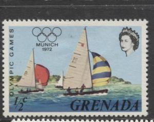 Grenada-Scott 457 -Munich Olympic Games Issue-1972-MH- Single 1/2c Stamp