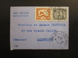 Indo China 1949 Cover To Cherbourg / Mini Cover - Z6445