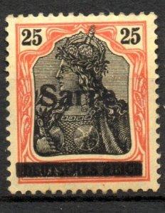 Saar 1920 #9 VF Mint *Hinged/Unused* OG