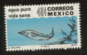 MEXICO Scott 1049 MNH** 1972 Fish in Clean water stamp