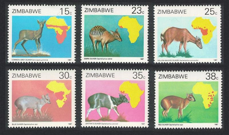 Zimbabwe Duikers Antelopes 6v SG#718-723