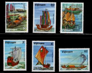 Unified Viet Nam Scott 1248-53 Unused NGAI  Sampan stamp set