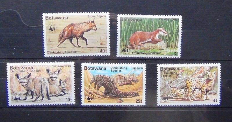 Botswana 1977 Diminishing milk Espèces ensemble MNH ANIMAUX