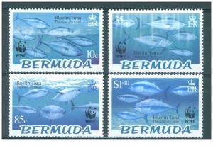 Bermuda 2004 wwf marione life fish tuna 4v MNH