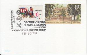 1994 Railroad Pictorial PC Cancel - Carbondale, IL