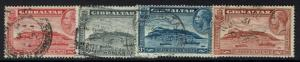Gibraltar SG# 110a-113a, Used, Perf 13.5 x 14 -  Lot 112916