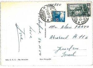 ITALIA  REPUBBLICA storia postale - LAVORO: 5 Lire su CARTOLINA per ISRAELE 1950