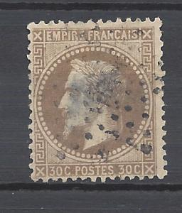 France 1867 Scott 34 u thin scv $17.00  Less 70% = $4.99 BIN