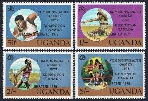 Uganda 249-252,MNH.Michel 226-229.Commonwealth Games,UGANDA LIBERATED 1979.