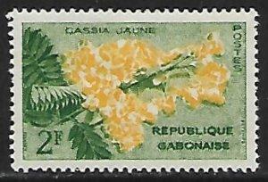 Gabon # 156 - Yellow Cassia - unused**.....{GR44}