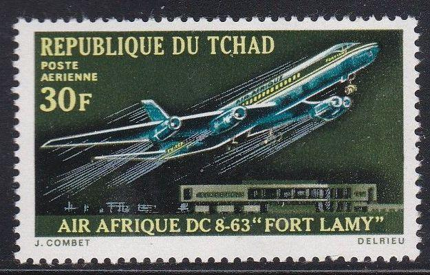 Chad #C70 F-VF Mint NH ** DC-8 Fort Lamy, Airport