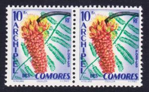 Comoro Is. Tropical Flora 1v horiz pair SG#20 SC#45 MI#39