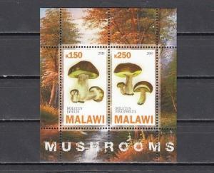 Malawi, 2010 Cinderella issue. Mushrooms sheet of 2.
