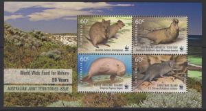 AUSTRALIA SGMS3640 2011 WORLD WIDE FUND FOR NATURE MNH
