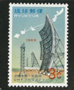 RYUKYU (Okinawa) Scott 183 MNH** 1969 box antenna stamp