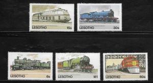 Lesotho 453-57 Trains Mint NH