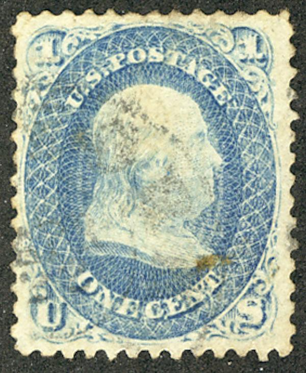 US #63 SCV $140. 2c Franklin, XF, used, faintly canceled, choice stamp, Seldo...