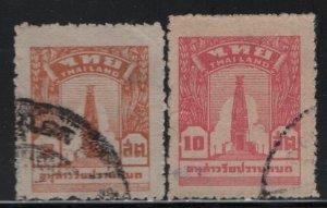 THAILAND, 258-259, SET (2), USED, 1943, BANGKHAEN MONUMENT