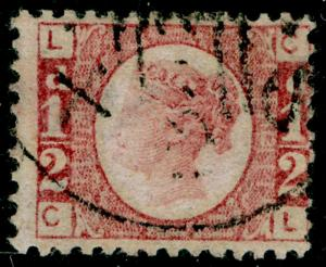 SG49, ½d rose PLATE 13, FINE USED. Cat £25. CL