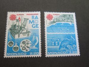 Monaco 1986 Sc 1530-1 set MNH