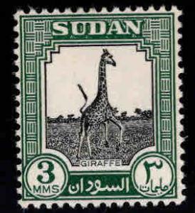 SUDAN Scott 100 MH* 1951 Giraffe stamp