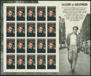 #3082a JAMES DEAN PANE OF 20 IMPERFORATE MAJOR ERROR WL1248