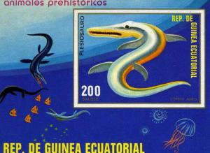 Equatorial Guinea 1978 PREHISTORIC FISH s/s Imperforated Mint (NH)