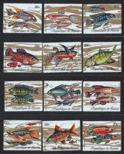 Guinea MNH 570-81 Fish Marine Life 1971 SCV 13.15
