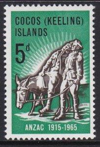 7 Cocos Islands 1965 ANZAC MNH