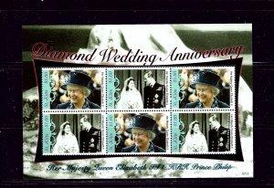 st Kitts 696 MNH 2007 QEII Diamond Wedding Anniv S/S
