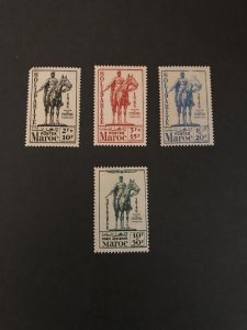 French Morocco #B29-31, CB-25, MNH SCV $14.55, See Description