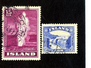 ICELAND #172 203 USED FVF Cat $29