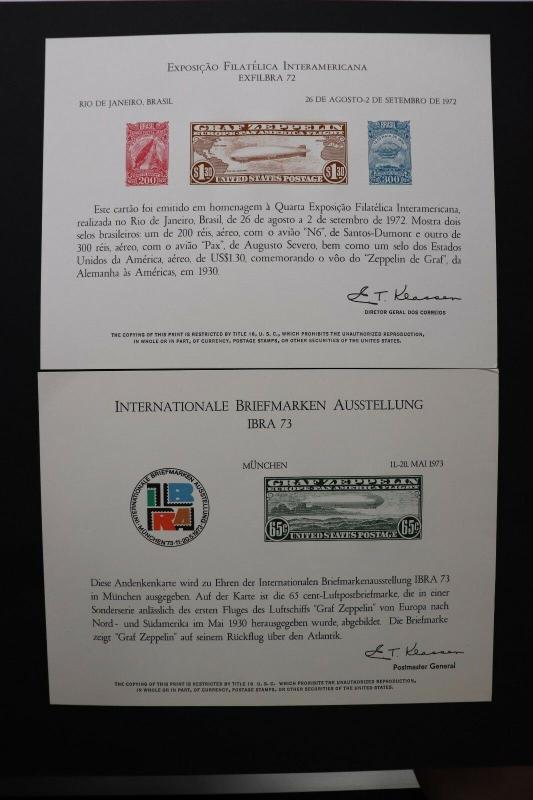 Graf Zeppelin EXFILBRA Flight 1972 IBRA 73 airmail reprint Souvenir page card