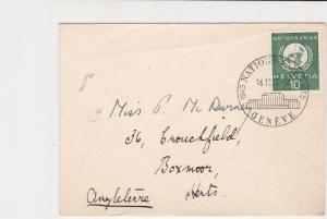 Geneva United Nations 1955  stamps cover ref 21651