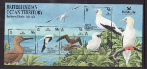 BIOT-Sc#244-unused NH sheet-Birds-Red-Footed Booby-2002-