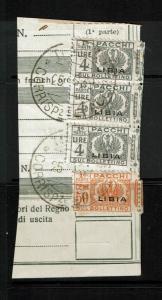 Libya SC# Q17 & Q22 (x3) Halfs on Piece - S2335
