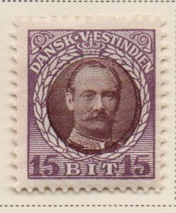 Danish West Indies Sc 45 1908 15 bit violet & brown Frederik VIII stamp mint
