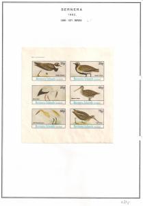 SCOTLAND - BERNERA - 1982 - Birds (45) - 6v Imperf Sheet - MLH