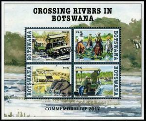 HERRICKSTAMP NEW ISSUES BOTSWANA Crossing Rivers S/S