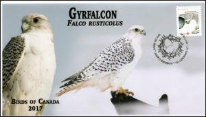 CA17-042, 2017, Birds of Canada, Gyrfalcon, Day of Issue, FDC