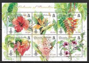 Pitcairn Islands 847 Flowers Block MNH