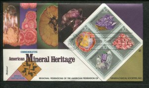 1974 Lincoln Nebraska US Stamps #1541a American Mineral Heritage First Day Cover